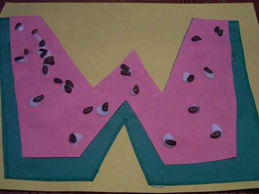 Craft, Crafts Letters, Preschool Watermelon, Letters Crafts, Crafts ...