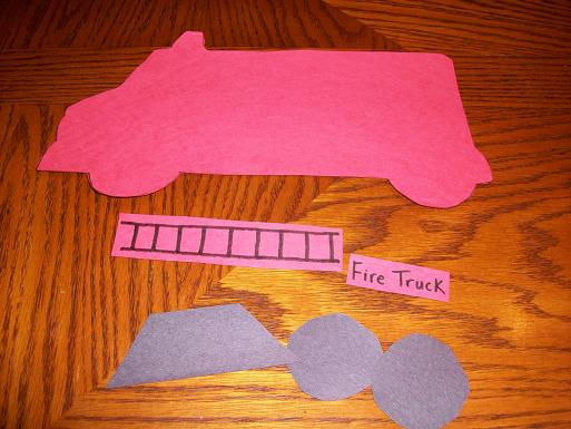 Fire Truck Craft Preschool http://ourcraftsnthings.com/category/fire-safety-week/