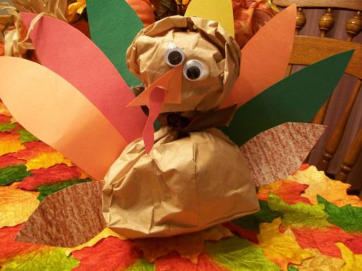 turkey craft, kids crafts, autumn crafts, paper bag craft
