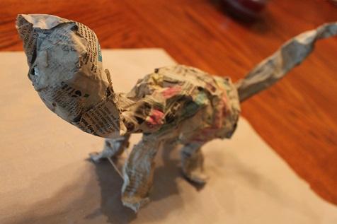 Paper Mache Dinosaur