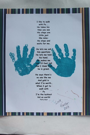 Father's Day Handprint Poem