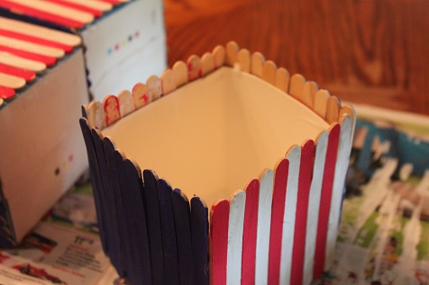July 4th Utensil Holder Craft